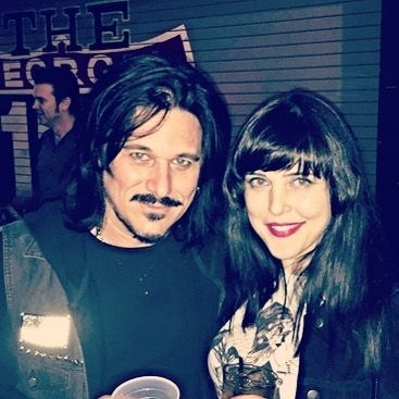 With Gilby Clarke of Guns and Roses