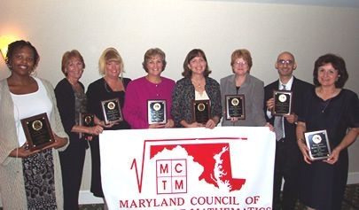 "Maryland Council of Teachers of Mathematics Teaching award, post-secondary category ""Outstanding College Mathematics Education Professor"""