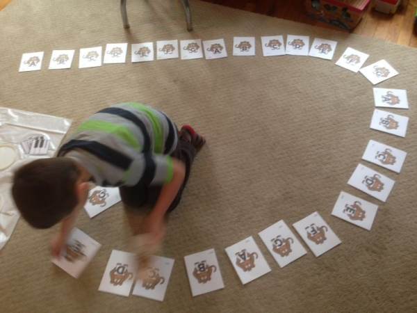 Monkeying around with the musical alphabet.