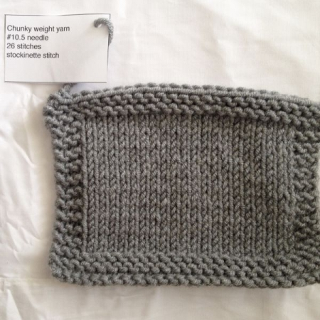 Stockinette Swatch