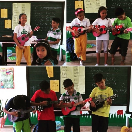 Some ukulele students in the Philippines, October 2015