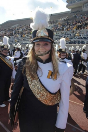 As a well-rounded musician, I also played some percussion roles in college and performed with the marching Racer Band!