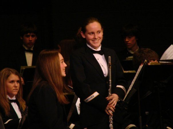 My shy and nervous smile after receiving applause for a solo!