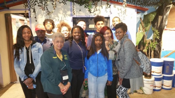 On a community service outing with students and Career Specialist at Matthew Ministries nonprofit organization.