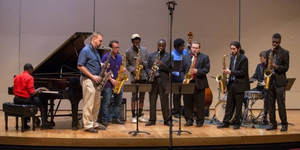 Me and a few of my colleagues jamming after a concert.