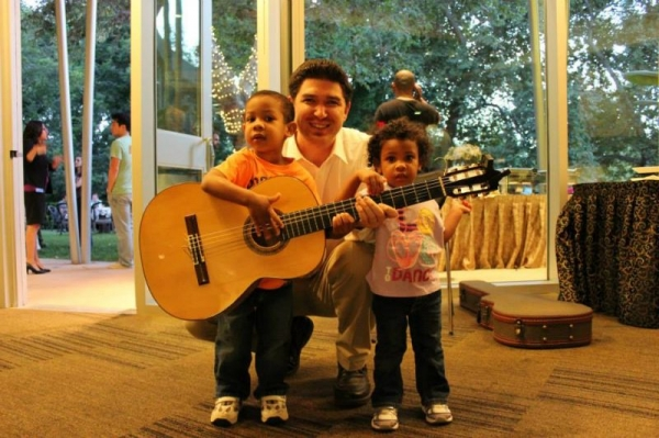 At a local gig, two kids took a real interest in my music and the guitar