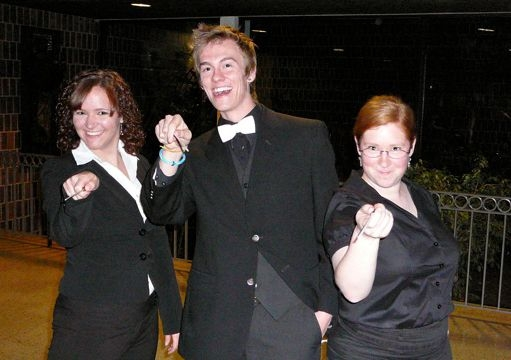 2009 - Getting ready to conduct my first band concert