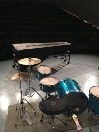 The stage before my Senior Recital