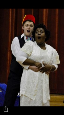 This is from one of my performances in opera scenes in music music school.