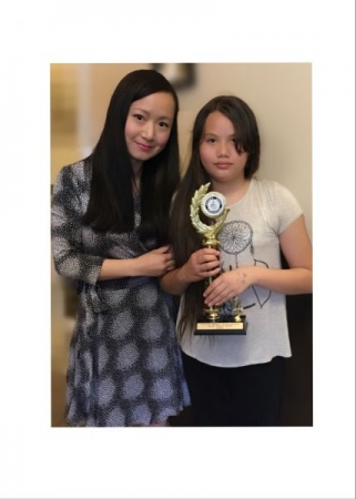 My student won 1st prize of Solo Violin Illinois Music Competition!