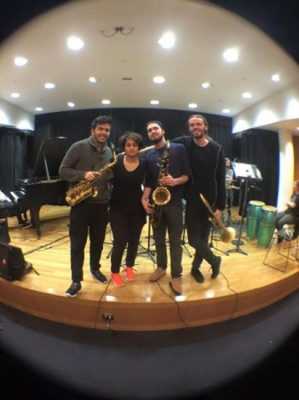 New School Earth Wind and Fire Repertoire Ensemble Horn Section