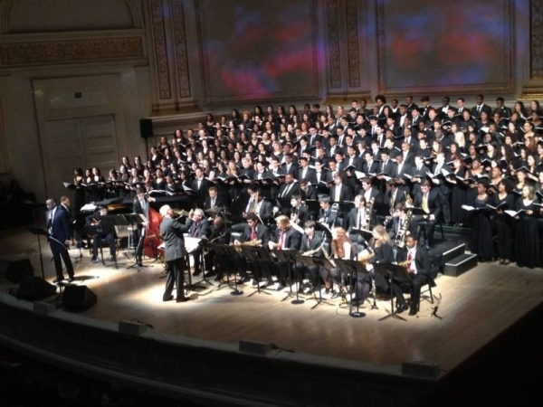 Performing Duke Ellington's Sacred Concert at Carnegie Hall conducted by David Berger