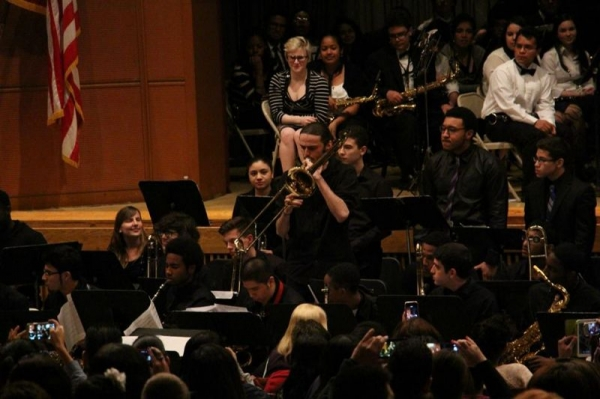 Soloing with York College Blue Notes at New York High School Music Festival