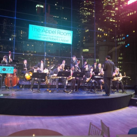 Performing at the Appel Room with the Jazz at Lincoln Center Youth Orchestra directed by Vincent Gardner