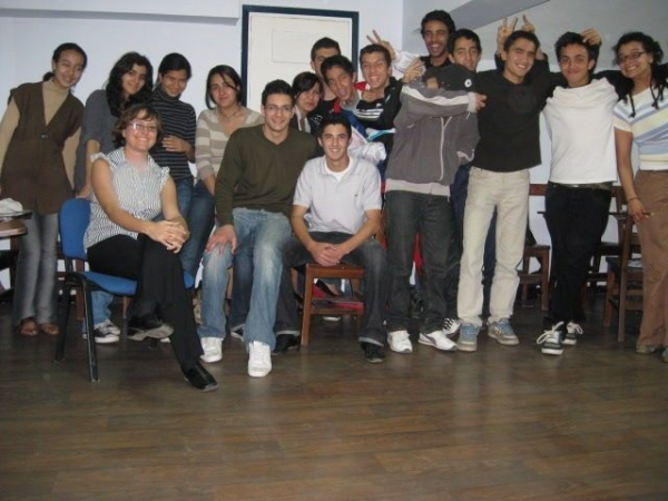 With my students in Morocco, March 2009