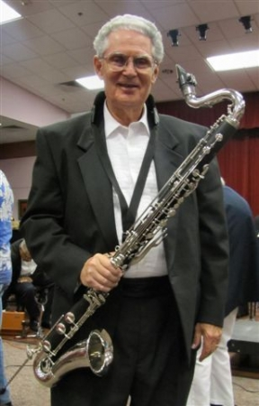 Playing Bass Clarinet with the American Legion Band at the Skolnik Center, Pompano Beach, FL