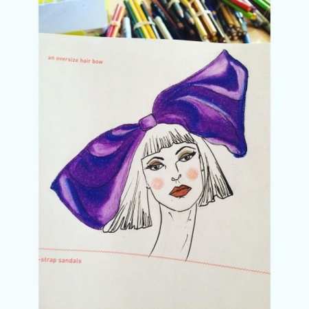 Fashion illustration sample.