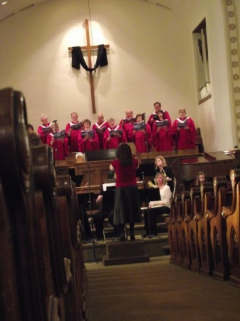 Directing the Easter Cantata at Park Presbyterian Church, 2012.