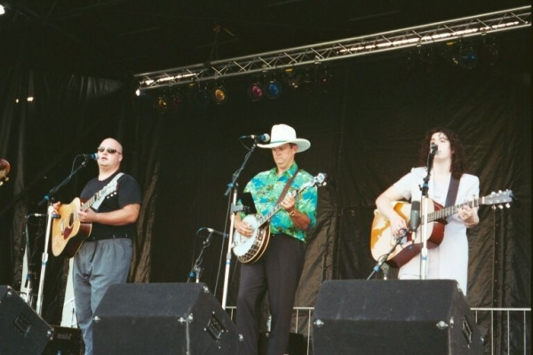 Performing with Timber Ridge at the Three Rivers Arts Festival in Pittsburgh, Pennsylvania.