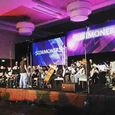 Performing with The Summoners Orchestra at Summoners Con 2015 #leagueoflegends #bassoon #sopraninoclarinet #orchestra
