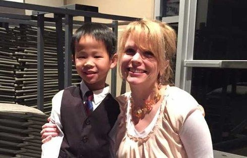 Me with one of my younger piano students in 2015.