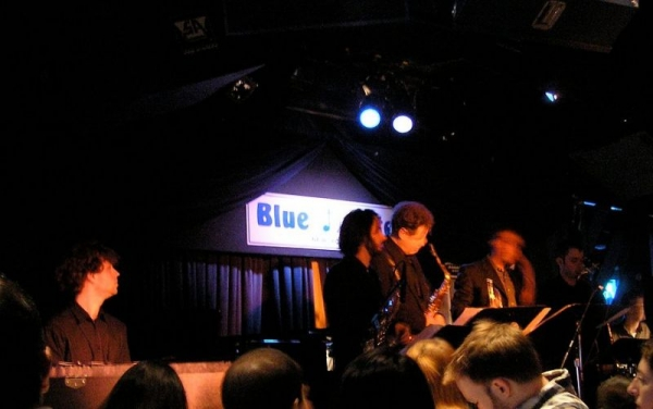 Here I am performing at the Blue Note in NYC with Lenny Pickett.