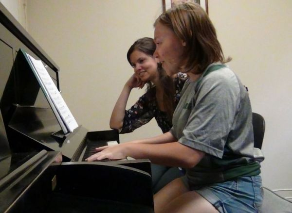 My talented adult student Lisa playing some Schumann