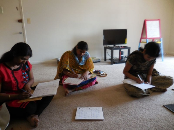 My students giving their exams.