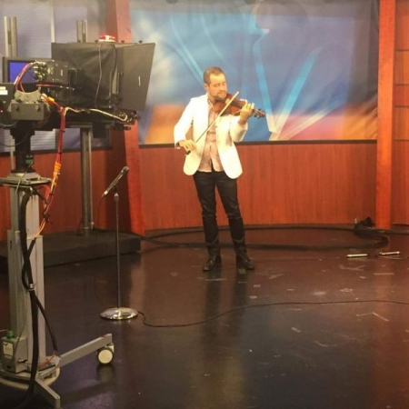 Playing live for NBC news at El Paso, Texas