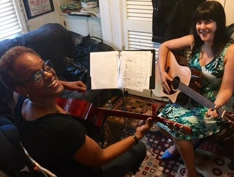 An in home lesson with one of my students Denise, I also teach her Grandaughter!