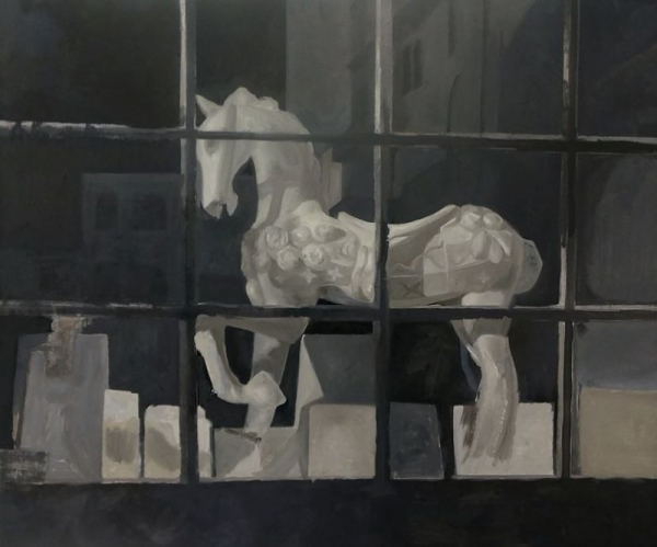 Window, Oil on canvas, 40x47inches