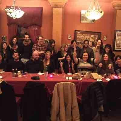 At our 2015-2016 Holiday Party dinner + Karaoke night!