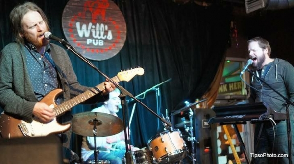 Here I am at a gig with the band I currently play with, called the Cosmic Roots Collective, at Orlando venue Will's Pub.