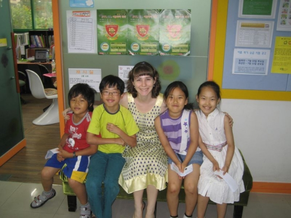 With English students in South Korea!