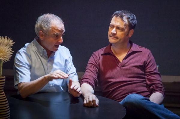 "J Marcus Newman and Michael Lundy in ""A Gay Marriage"" at Diversionary Theatre"