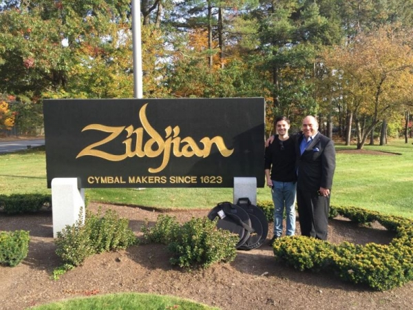 Visiting the Zildjian cymbals factory with my father, New York based percussionist/drummer, James Saporito