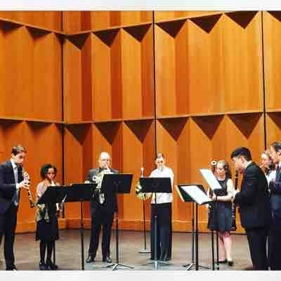 Performing the Mozart Octet in Eb Major with members from the Carnegie hall affiliate ensemble, Decoda