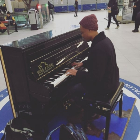 Tinkling the ivories in Utrecht Station, Netherlands. #wheremusictakesyou