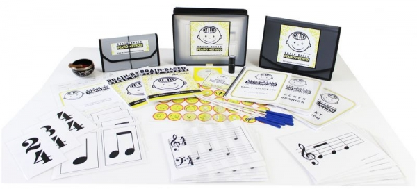 The Brain-Based Piano Method educational materials have been created to facilitate teaching and learning