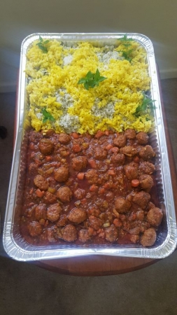 Persian Saffron rice and Sate' Meatballs, Mojy's Special recipe