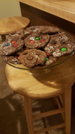 M&Ms and Chocolate cookies