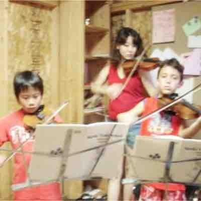 At summer music camp