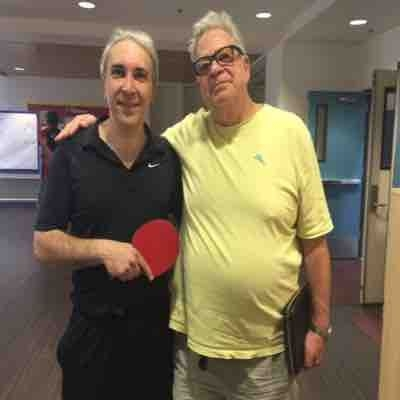 With the great Ken Topolsky , director and producer and a good Table Tennis player .