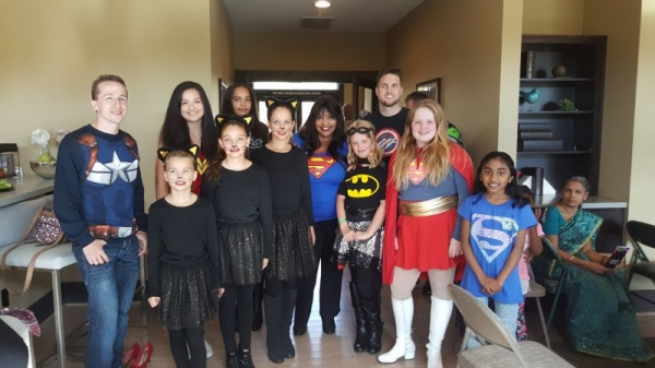 Me and some of my students at our Comic-Con Back to School recital Sept 18, 2016,  Fun! Fun!!