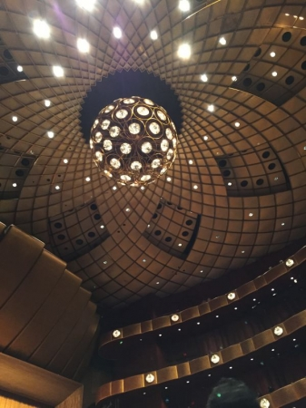 The ceiling in one of the most beautiful theaters I have see!