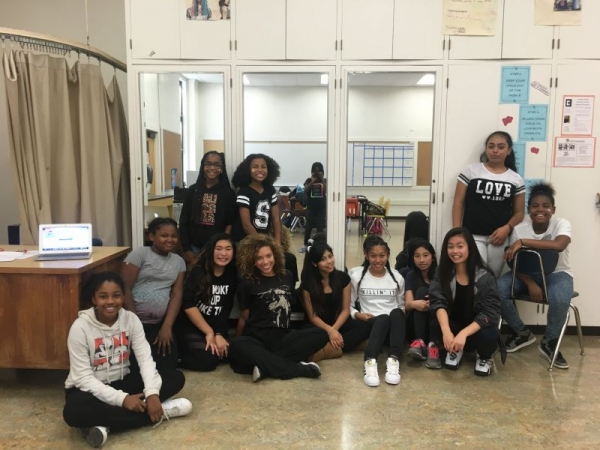Teen hip hop dancers at one of my enrichment schools.