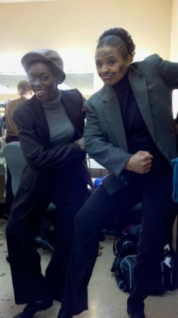 "Backstage for upcoming performance of Mary Poppins ""Step in Time"" dance. We were dancing chimney sweepers!!! 2012"