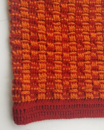 Cord of Three Strands Basketweave Throw. Crochet.TIffaniLynneCrochet