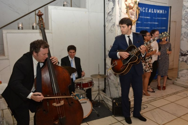 Cultural Services of the French Embassy in the US, New York Playing with my trio for the French Alumni web platform launch