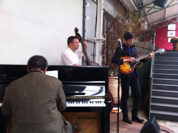 La Bellevilloise, Paris Playing with jazz greats Alain Jean-Marie on piano & Gilles Naturel on bass